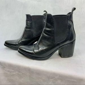 STEVE MADDEN Pistol Boots black leather Sz 7.5